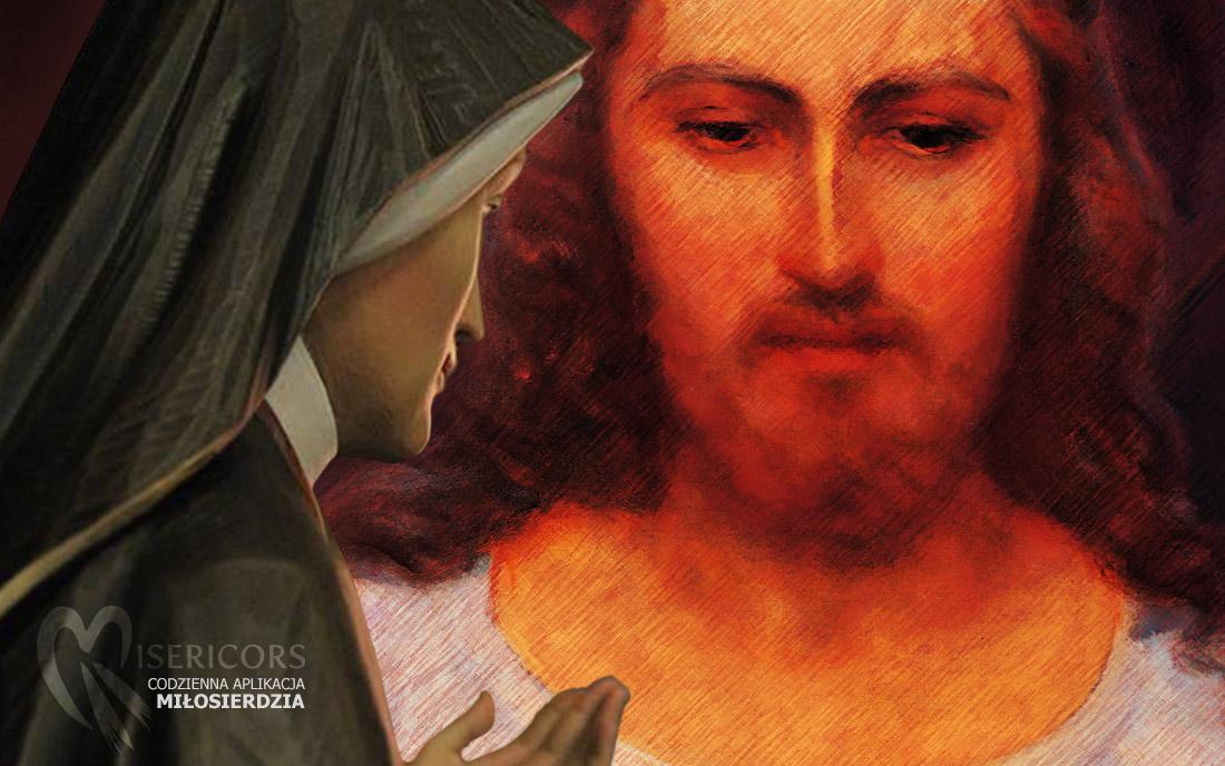 Jezus Miłosierny i Faustyna