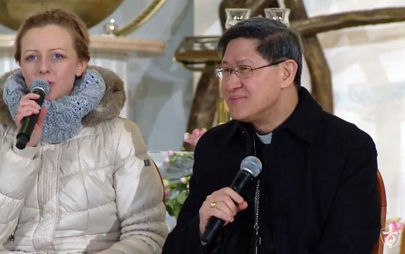 Kard. Luis Antonio G. Tagle w Sanktuarium Bożego Miłosierdzia. Luty 2017 r.
