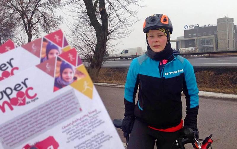 Natalia Lińczowska na trasie akcji SuperMoc dla Życia