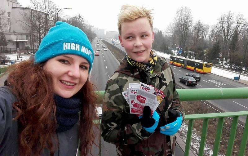 Natalia Lińczowska na trasie akcji SuperMoc dla Życia. Dzień 8
