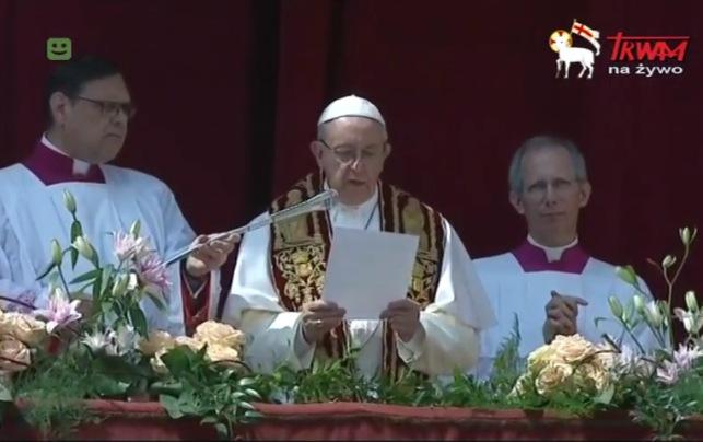 Orędzie Wielkanocne papieża Franciszka