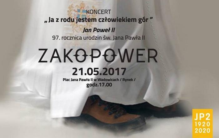 Koncert Zakopower w Wadowicach z okazji 97. rocznicy urodzin Jana Pawła II
