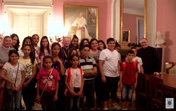 Dzieci z Domu Pokoju w Betlejem u abpa Marka Jędraszewskiego
