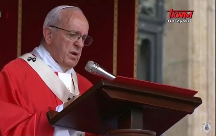 Homilia papieża Franciszka wygłoszona w uroczystość Świętych Piotra i Pawła 2017