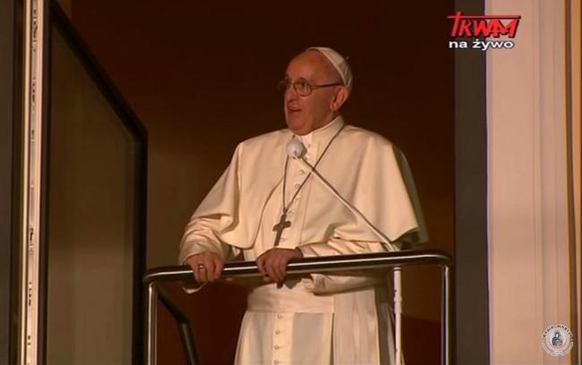 ŚDM: Spotkanie z Ojcem św. Franciszkiem pod Oknem Papieskim
