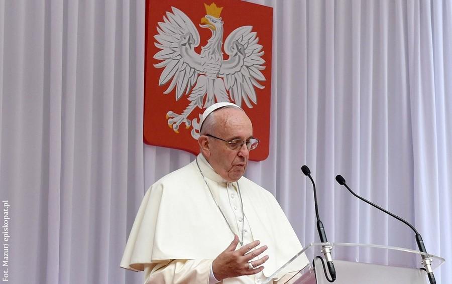Przemówienie powitalne papieża Franciszka na Wawelu