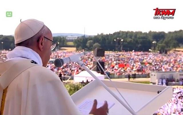 Homilia Ojca św. Franciszka wygłoszona podczas Mszy sw. na Campusie Misericordiae w Brzegach