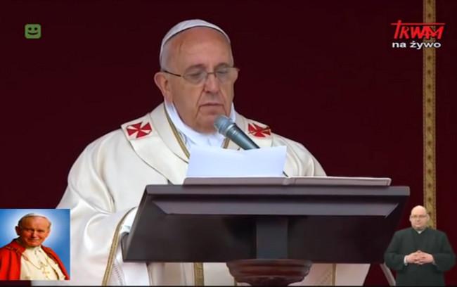 Kanonizacja Jana Pawła II i Jana XXII – Homilia papieża Franciszka – 27 kwietnia 2014
