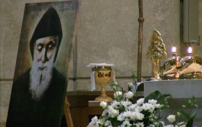 Relikwie i nabożeństwa do św. Charbela w Krakowie