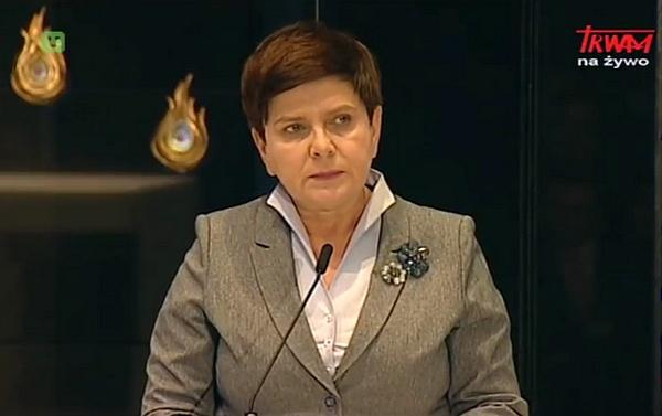 """Międzynarodowa Konferencja """"Pamięć i Nadzieja"""": Wystąpienie premier RP Beaty Szydło"""