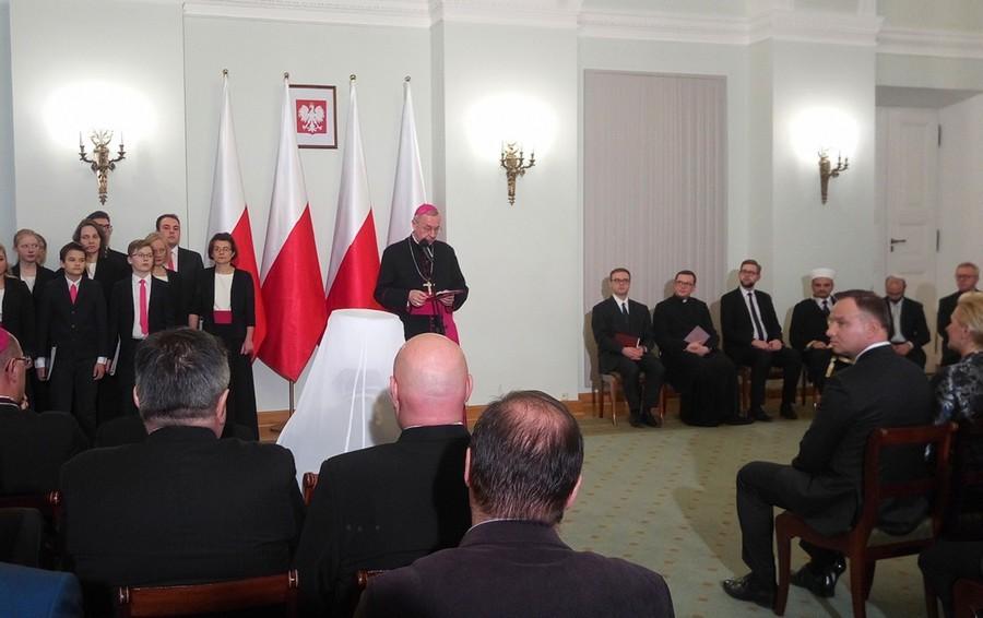 Słowo Przewodniczącego Episkopatu Polski podczas noworocznego spotkania zwierzchników Kościołów i związków wyznaniowych z Prezydentem RP - 15 stycznia 2018