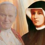 Św. Faustyna i Jan Paweł II