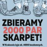 """Akcja """"Zbieramy 2000 par skarpet"""" - Duszpasterstwo Młodzieży Archidiecezji Krakowskiej z pomocą bezdomnym!"""