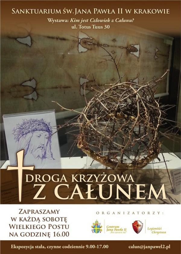 Droga Krzyżowa przy kopii Całunu Turyńskiego w Sanktuarium św. Jana Pawła II - Wielki Post 2018