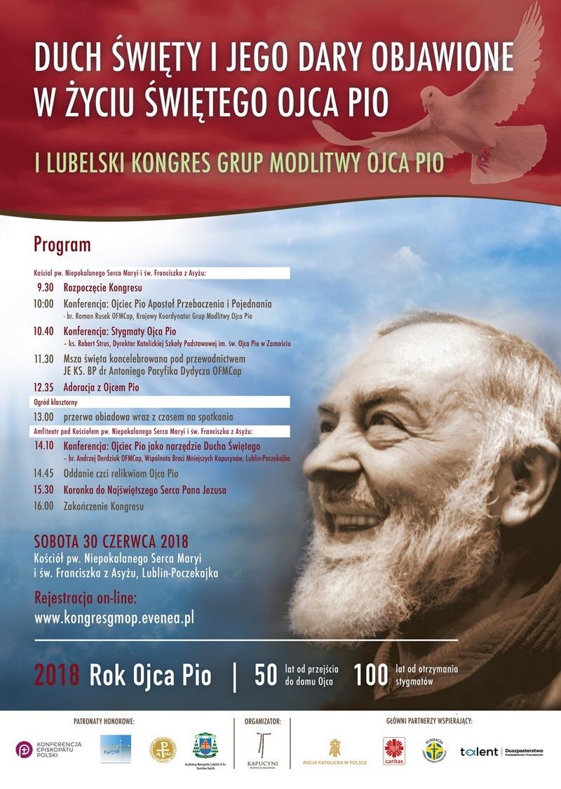 1. Lubelski Kongres Grup Modlitwy Ojca Pio - 30 czerwca 2018