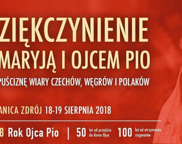Dziękczynienie z Maryją i z Ojcem Pio za spuściznę wiary Czechów, Węgrów i Polaków