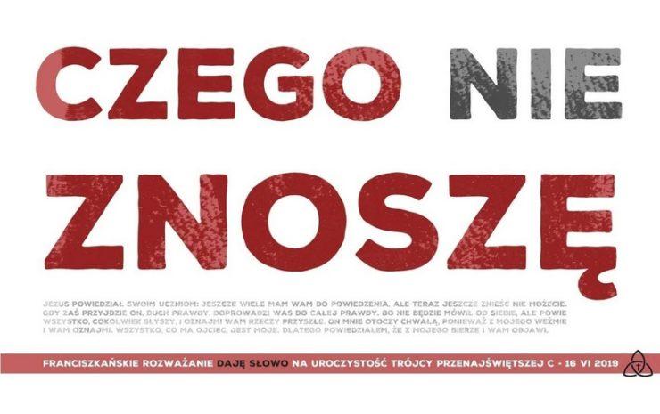 """Franciszkańskie rozważanie """"Daję Słowo"""" na uroczystość Trójcy Przenajświętszej - 16 czerwca 2019"""
