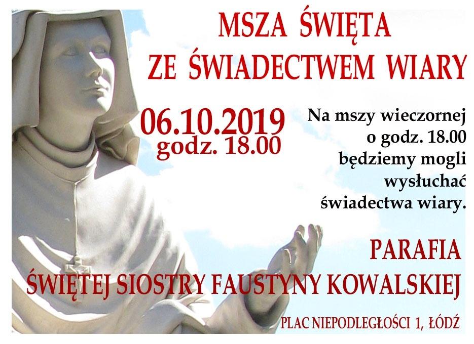 w parafii św. Siostry Faustyny Kowalskiej w Łodzi