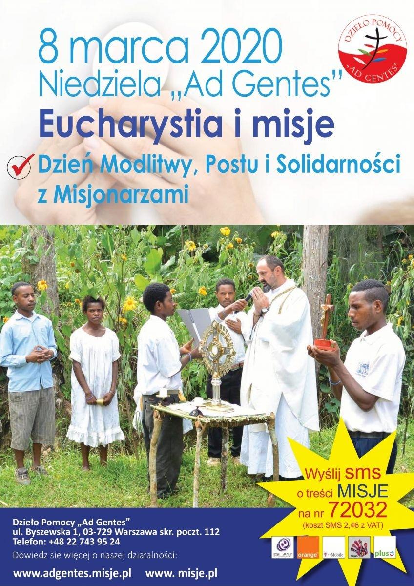 """Niedziela """"Ad Gentes"""" 2020 - Dzień Modlitwy, Postu i Solidarności z Misjonarzami - 8 marca 2020"""